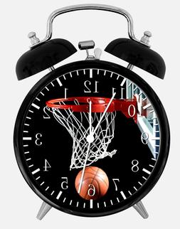 "Basketball Alarm Desk Clock 3.75"" Home or Office Decor W118"