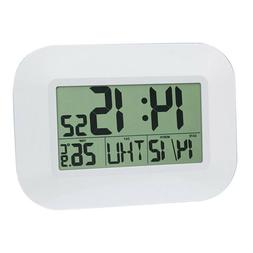 BATTERY ALARM CLOCK WITH LCD 24H DISPLAY BACKLIGHT SNOOZE CE