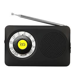 DreamSky Portable AM FM Radio with Speaker and 3.5 MM Earpho