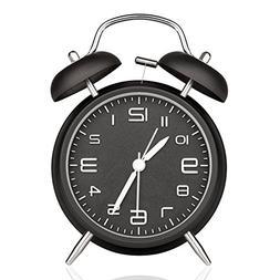 "DreamSky Battery Alarm Clock with Backlight on Demand, 4"" Tw"