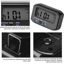 Battery Digital Alarm Clock With LCD Display White Backlight