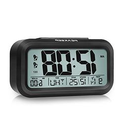 Peakeep DST Battery Digital Dual Alarm Clock, Low High Dimme