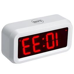 ChaoRong Small Wall/Shelf/Desk Digital Alarm Clock Battery O