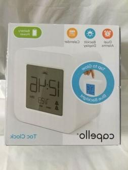 White Battery Operated Capello Travel Alarm Clock In Origina