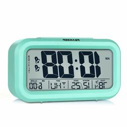 Peakeep Battery Operated Cordless Digital Clock, Smart Senso