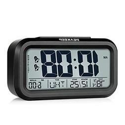Peakeep Battery Operated Cordless Digital Dual Alarm Clock,