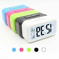Digital Snooze LED Alarm Clock Battery Operated Calendar The