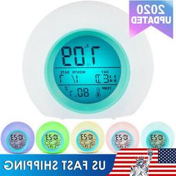 Digital LCD Snooze Electronic Alarm Clock with LED Backlight