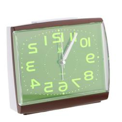 Battery Operated Non Ticking Bedside Clock for Bedroom Silve
