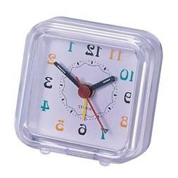 Battery Operated Portable Small Travel Alarm Clock Night Lig