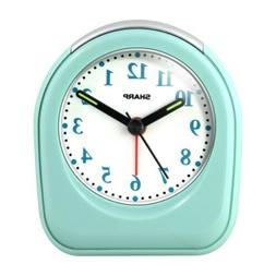 Sharp Battery Powered Ascending Alarm Clock Glow Dark Hands