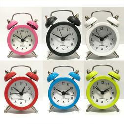 Battery Powered Quartz Alarm Clock, Loud Twin Bell, Snooze B