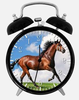 "Beautiful Horse Alarm Desk Clock 3.75"" Home or Office Decor"