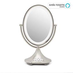 iHome Beauty iCVA66: Alexa Enabled Dual Sided Vanity Mirror,