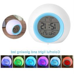 Bedroom Wake Up Light Alarm Clock Digital Display Date for A
