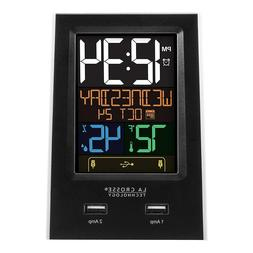 Bedside Alarm Clock Nap Snooze Timer Indoor Temperature & Ph