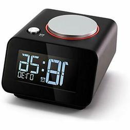 Homtime Clock Radios Bedside Alarm Clocks With Dual USB Char