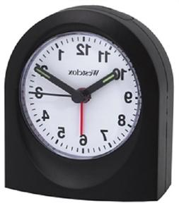 Bedside Analog Alarm Clock, Black