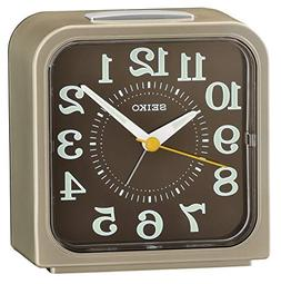 Seiko Bell Alarm Clock with Snooze & Light - Light Gold