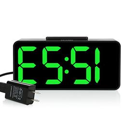 "ZHPUAT  8.9"" Big Screen Digital Alarm Clock with Dimmer and"