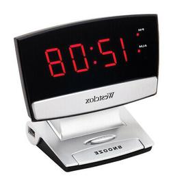 Westclox  Black  Alarm Clock  Digital  Plug-In