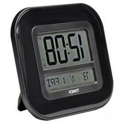 Timex Black Auto Set Atomic Desktop or Wall Hanging Clock In