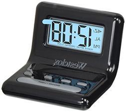 Westclox LCD Black Bedside Alarm Clock