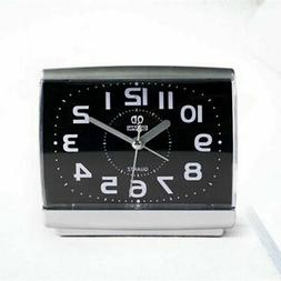 Black/White Square Simple Quartz Beep Alarm Clock Home Kids