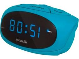 Westclox Blue LED Display Tabletop Electric Alarm Clock  700