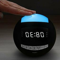 OnLyee Bluetooth Alarm Clock - AM FM Radio, AUX-in, Speaker,