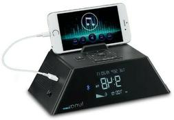 Bluetooth® Alarm clock Charging Station, 2 USB Ports, 2 out