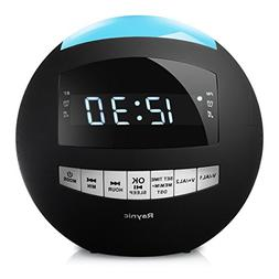 Raynic Bluetooth Alarm Clock with AM/FM Radio, Dual Alarms,
