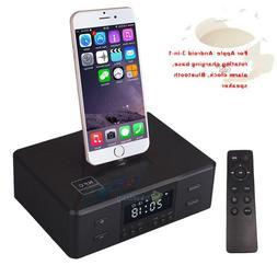 Bluetooth Docking Station Speaker Dock Alarm Clock Radio for