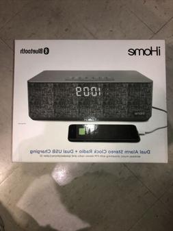iHome Bluetooth Dual Alarm Stereo Clock Radio + Dual USB Cha