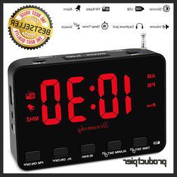 NEW Sxe Bluetooth Speaker Fm Alarm Clock Radio Sxe86011