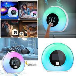 Bluetooth Speaker Lamp Night Light w/ Alarm Clock 5 Color Ch