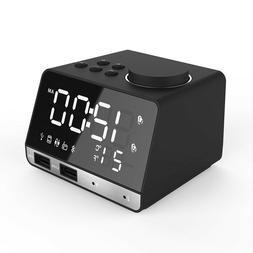 Bluetooth speaker radio large LED digital alarm clock Snooze