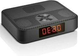 Bluetooth Speakers Portable Wireless, Alarm Clock w FM Radio