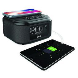 iHome iBTW23 Wireless Charging Bluetooth Alarm Clock with Sp