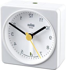 Braun BNC002 Classic Travel Alarm Clock, White