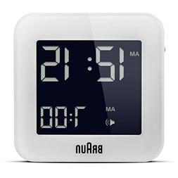 Braun BNC008WH LCD Quartz Alarm Clock