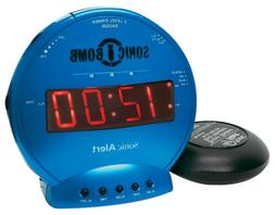 Sonic Bomb Loud Dual Alarm Clock with Vibrating Bed Shaker T