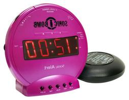 Sonic Bomb Loud Dual Alarm Clock with Vibrating Bed Shaker P