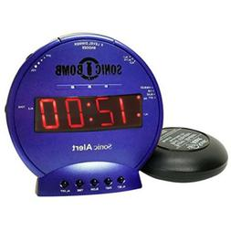 Sonic Bomb Loud Dual Alarm Clock with Vibrating Bed Shaker B