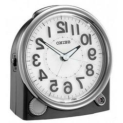 *BRAND NEW* Seiko Analog Black-Tone Plastic Case Alarm Clock