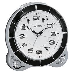 *BRAND NEW* Seiko Round White Dial Alarm Clock QHK031SLH