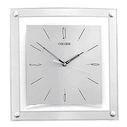 *BRAND NEW* Seiko Silver Tone Square Wall Clock QXA330SLH