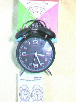 brand new twin bell alarm clock runs