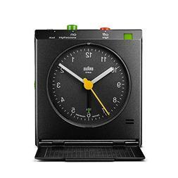 Braun BNC005BKBK Classic Motion Analog Quartz Alarm Clock
