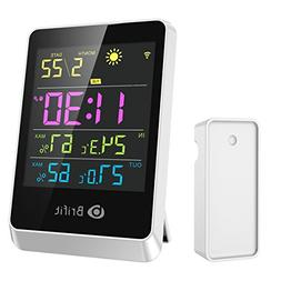Brifit Wireless Hygrometer Indoor Outdoor Thermometer Humidi
